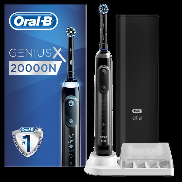 Picture of Oral-B Genius X szürke, CA fejjel, premium pótfej tartóval