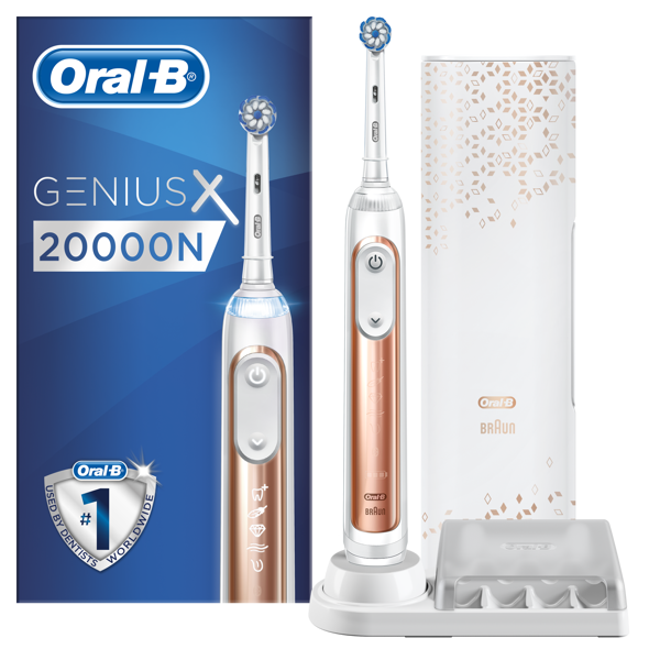 Picture of Oral-B Genius X Rose Gold, Sensi fejjel, premium pótfej tartóval